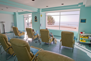 IV Therapy Room with Ocean View